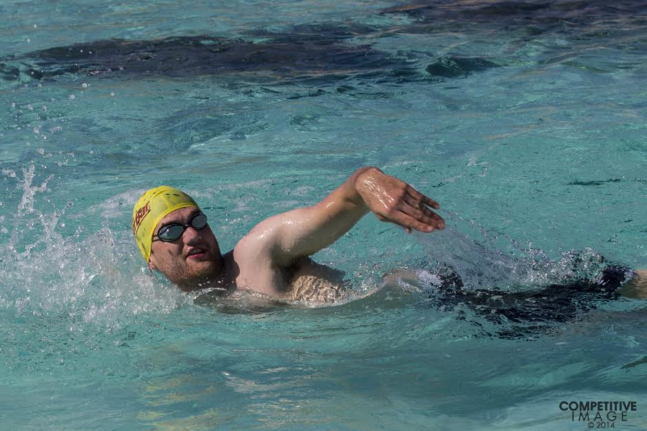 Patrick swimming. Photo thanks to Paul Phillips