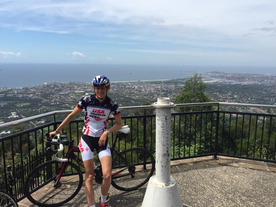The top of Mount Keira, overlooking Wollongong