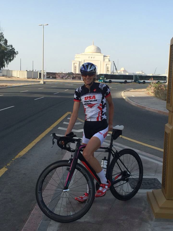 A ride in Abu Dhabi before the race.