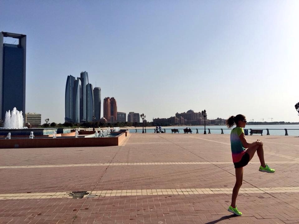 A run in Abu Dhabi.