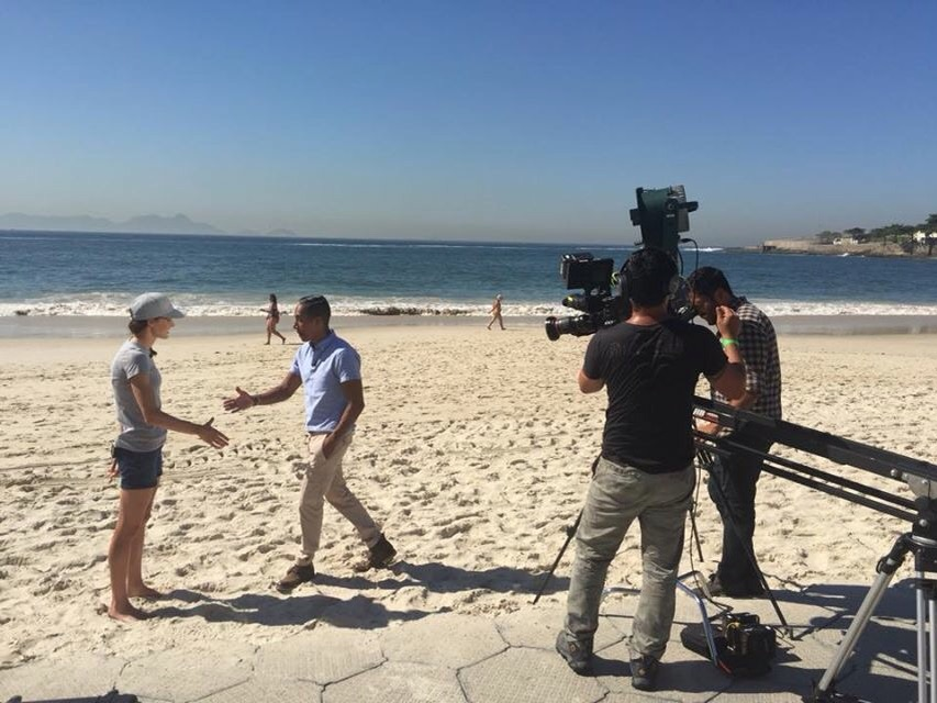 Had a great time on the beach with NBC