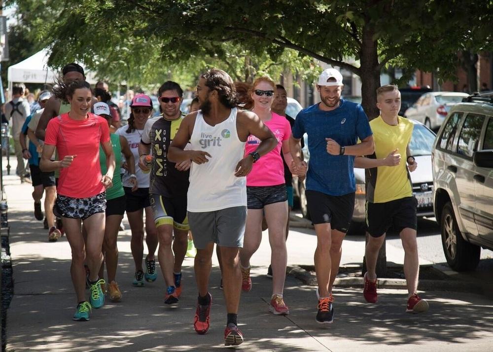 Leading a fun run with ASICS
