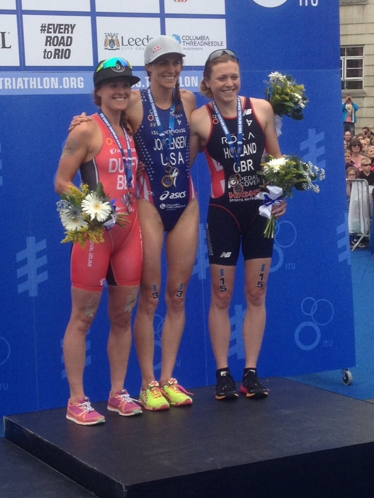 Podium shot. Congrats to Flora and Vicky.