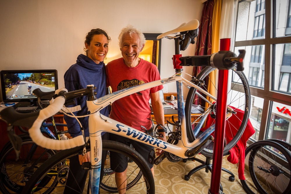 This is Sandy, who has been working on my bikes for the past four years. He always makes sure it is race ready! Photo thanks to Etienne VanRensburg