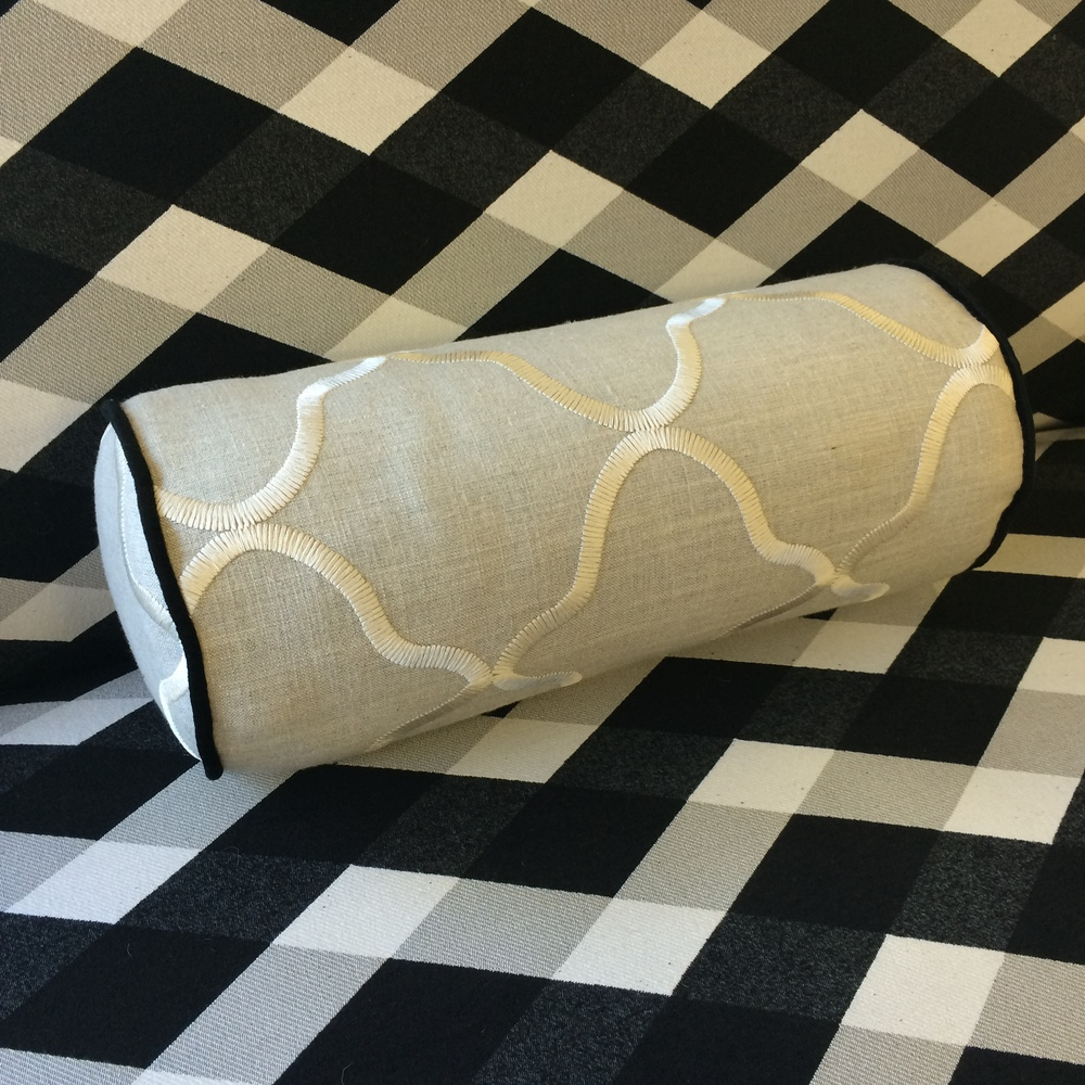 $ 139 ea  Size: Bolster  Fabric: Leyla Natural