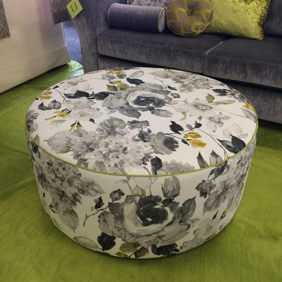 $727 ea  Style: Dott  Fabric:Fleur Print Charcoal