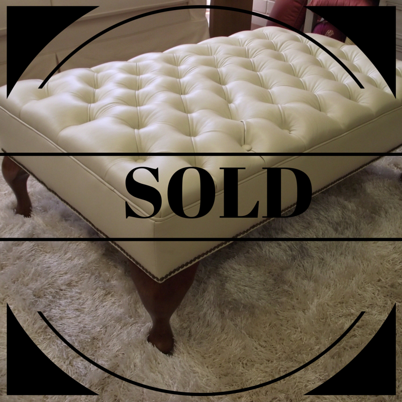 sold leather luxury ottoman