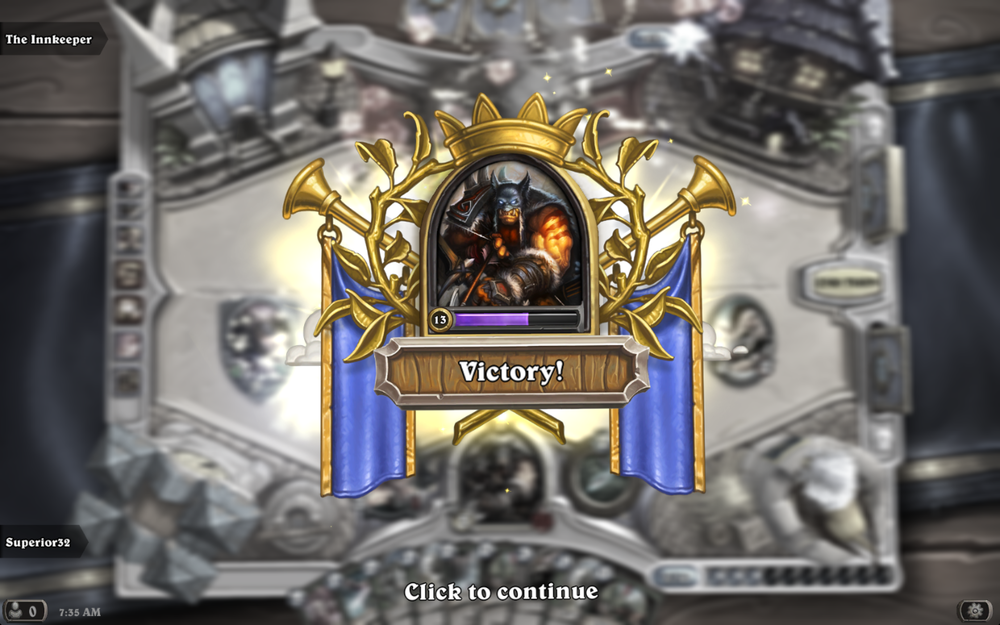 hearthstone victory