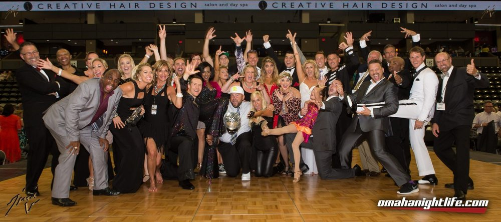 Omaha Ballroom's participants at their charity event, Dancing with the Omaha Stars