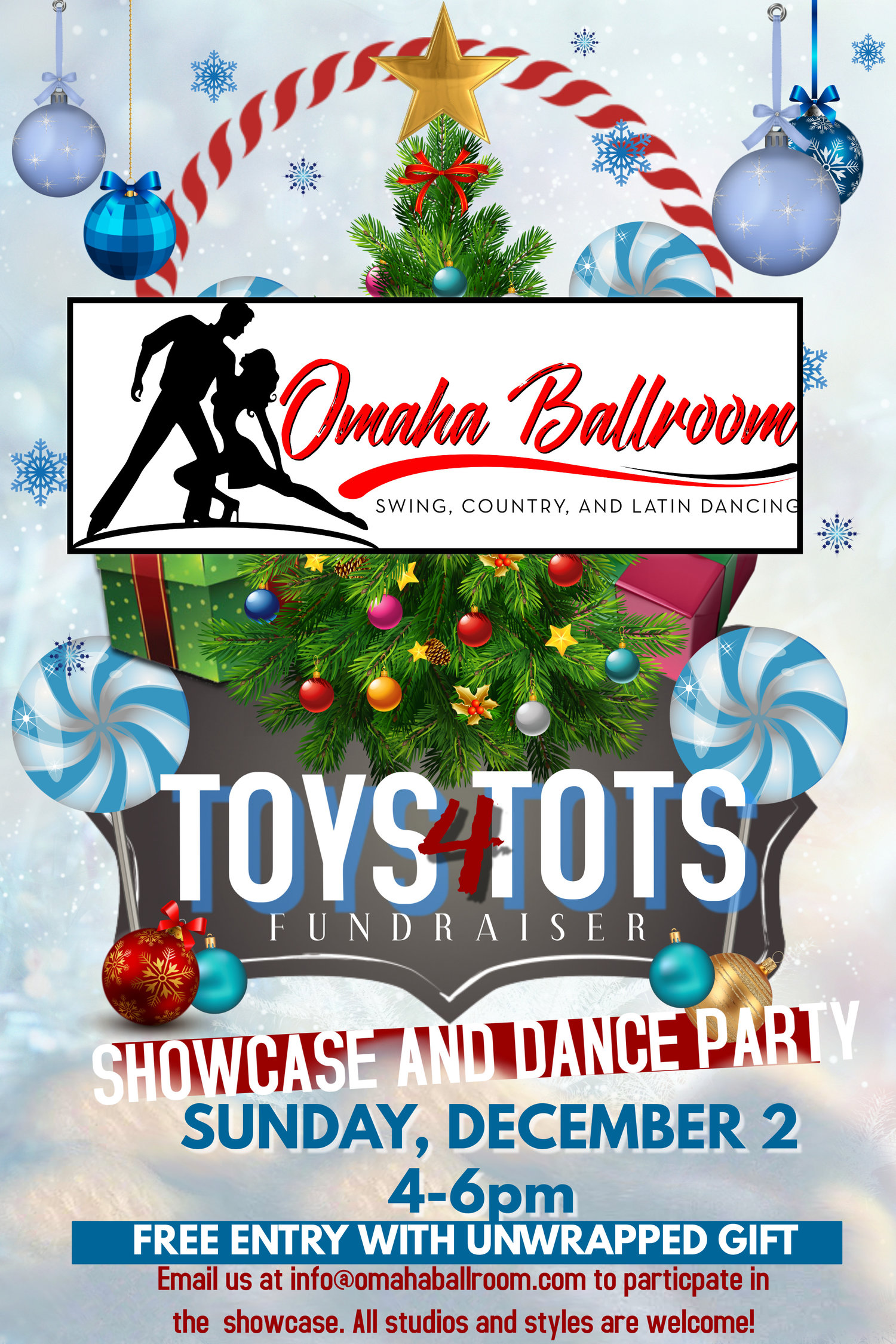 Toys For Tots Showcase Dance Party Omaha Ballroom