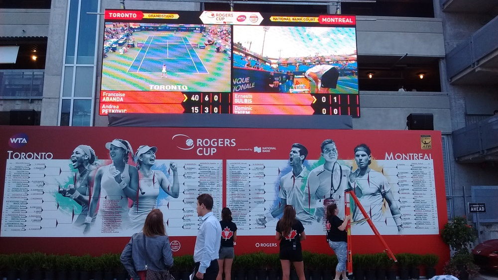 Big screen on top was closest we got to seeing Genie...