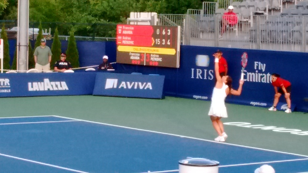 Petkovic serving it up