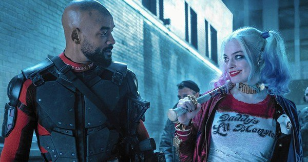 Deadshot (Will Smith) and Harley Quinn (Margot Robbie) via movieweb.com via Warner Bros.