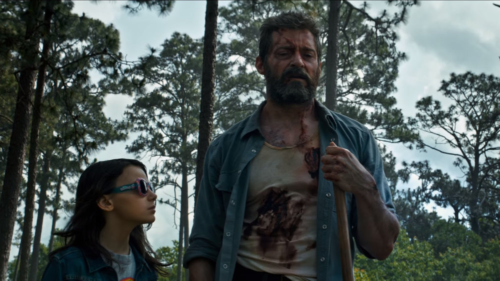 X-23 (Dafne Keen) and Logan (Hugh Jackman) share a moment; via theverge.com
