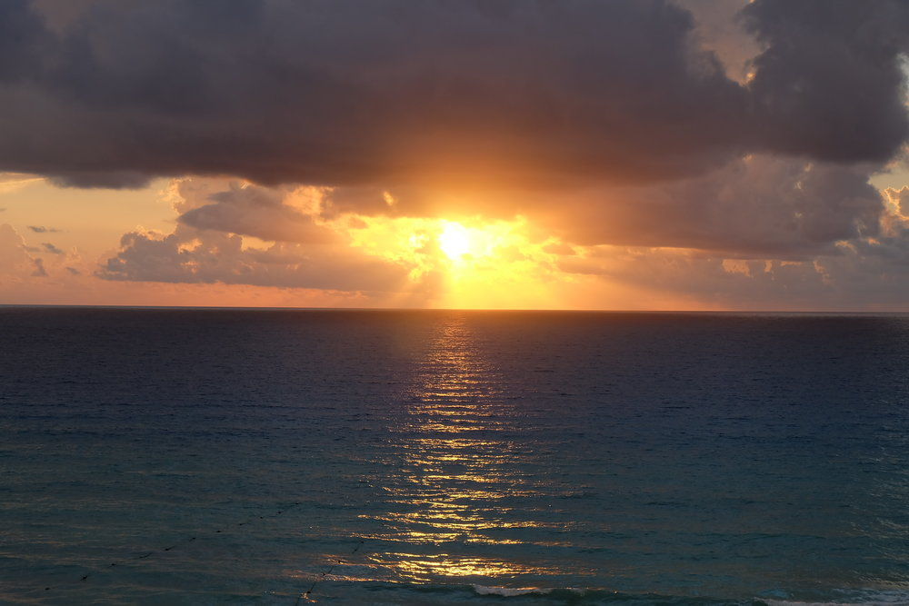 Sunset at Cancun, Mexico