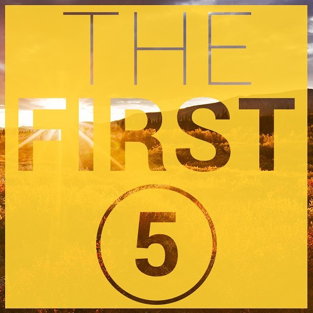 Spend your first 5 minutes with God today! Each day this week at 6am on Periscope we will be having a 5 Minute Devotional to help us focus our hearts and minds for the day! #thefirst5
