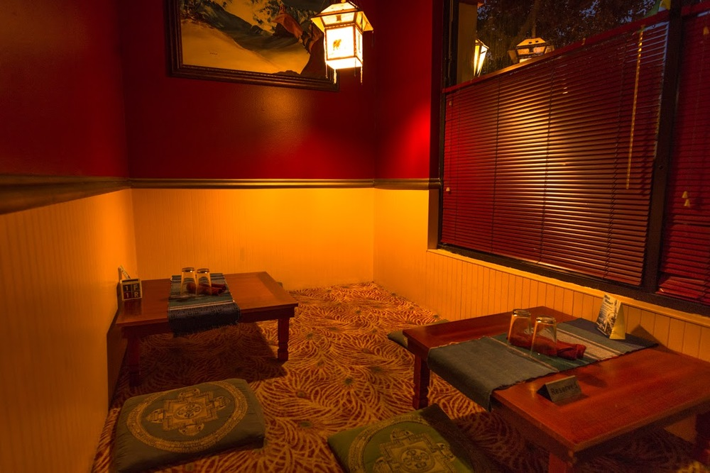 Floor Seating   Sit in the traditional Nepali style, or in a chair at a Western style table.  Seats up to 10 Peopple