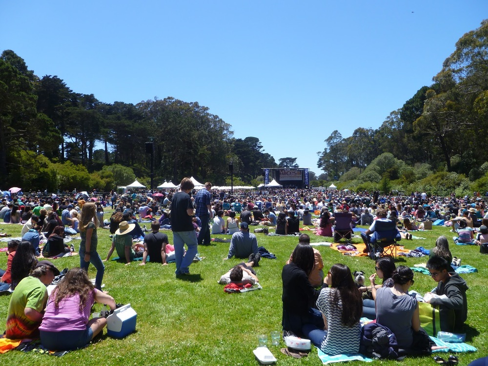 One of many outdoor concerts held at Hellman Hollow.