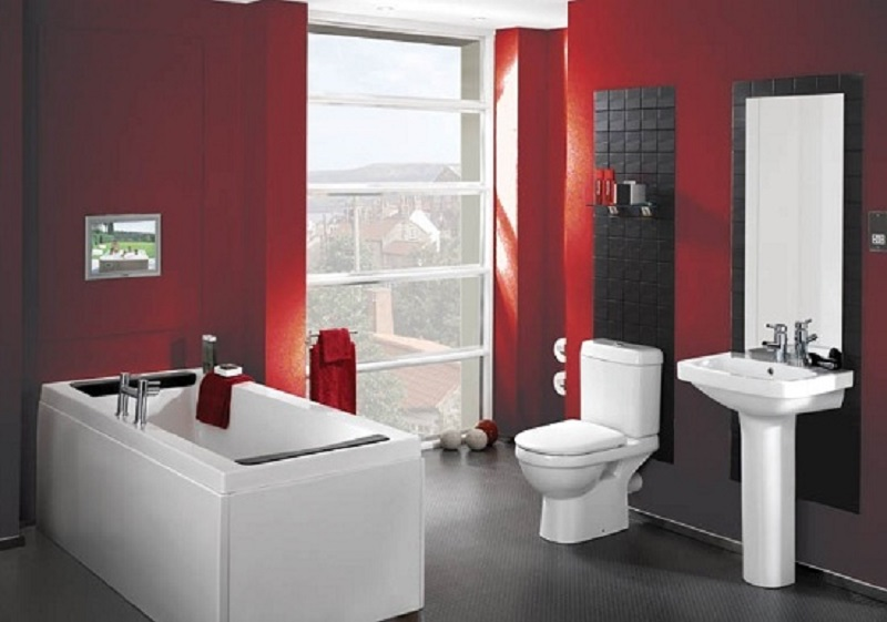Seeing Red The New Bathroom It Color Sequoia Real Estate