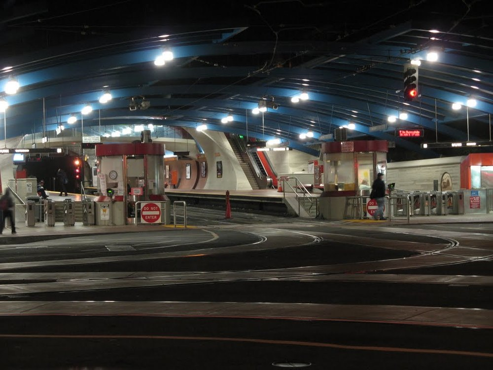 At West Portal Station, which is built around the entrance to the Twin Peaks Tunnel, commuters can take the MUNI downtown to the Embarcadero.