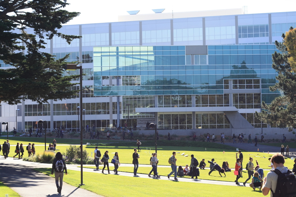 During the academic year, the blocks in and around San Francisco State University's campus are lively with students walking to and from classes.