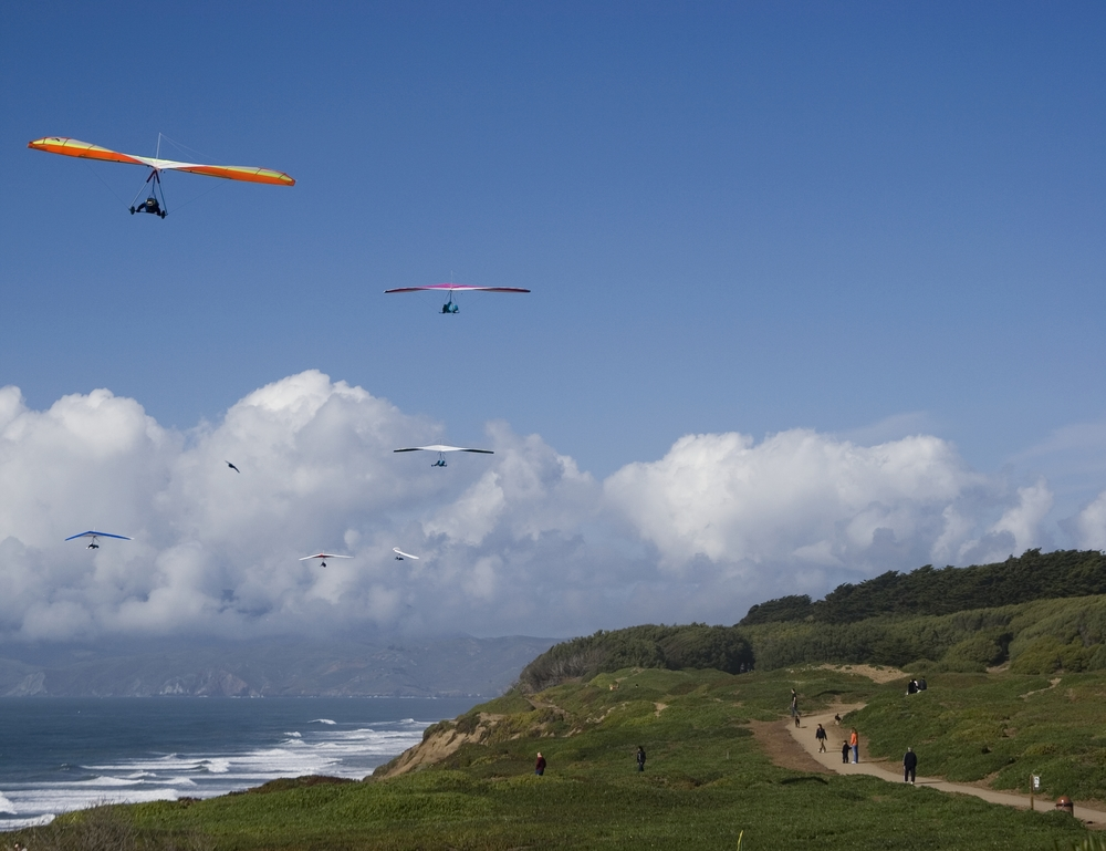 Just west of Lake Merced, Fort Funston is a protected area within the Golden Gate National Recreation Area and a premier hang-gliding spot.