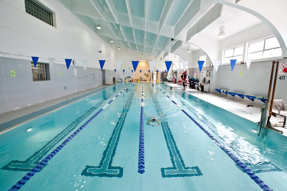The Stonestown Family YMCA, at 20th Avenue and Eucalyptus Drive, is one of the city's largest YMCA's, offering a pool, workout gym, cycling studio and a senior center.