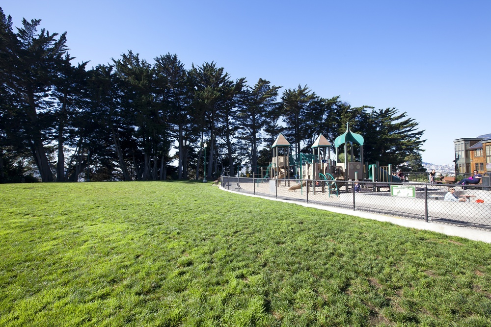 McKinley Park is a small neighborhood gathering spot with a playground, grassy areas, walking paths and great views west.