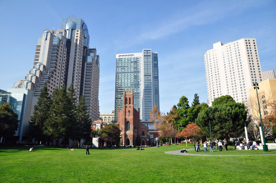 The Yerba Buena Gardens complex features two blocks of museums, gardens, restaurants, and activities.