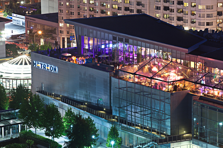 The Metreon on Fourth Street includes a multiplex movie theater, a CitiTarget, and a variety of restaurants.