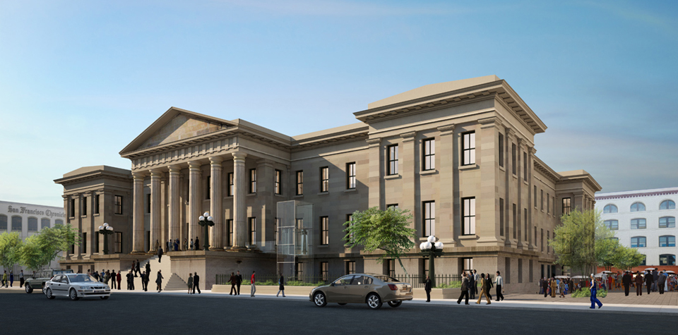 The San Francisco Mint was opened in 1854 to serve the mines of the California Gold Rush.