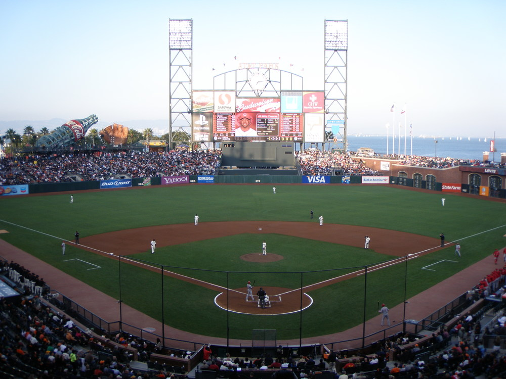 San Francisco Giants fans love the fact that AT&T Park is just down the street and across from the creek.