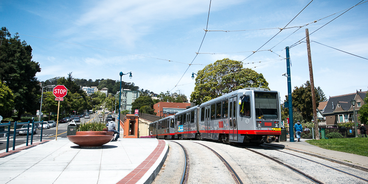 Noe residents are served by the J-Church MUNI Metro line.