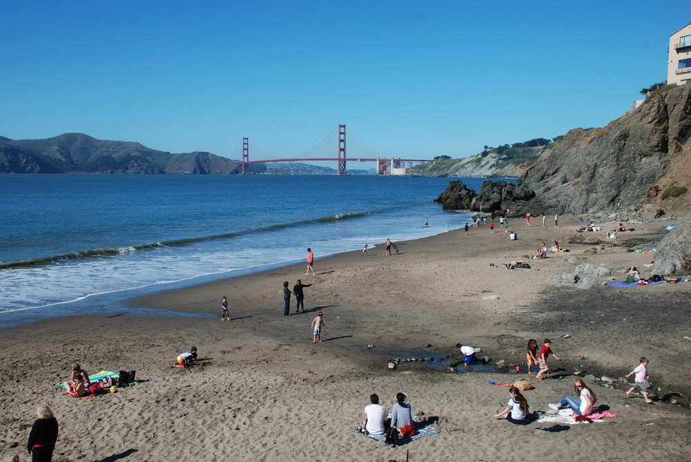 Central Richmond residents can access Baker and China beaches via trails that lead up through the Presidio.