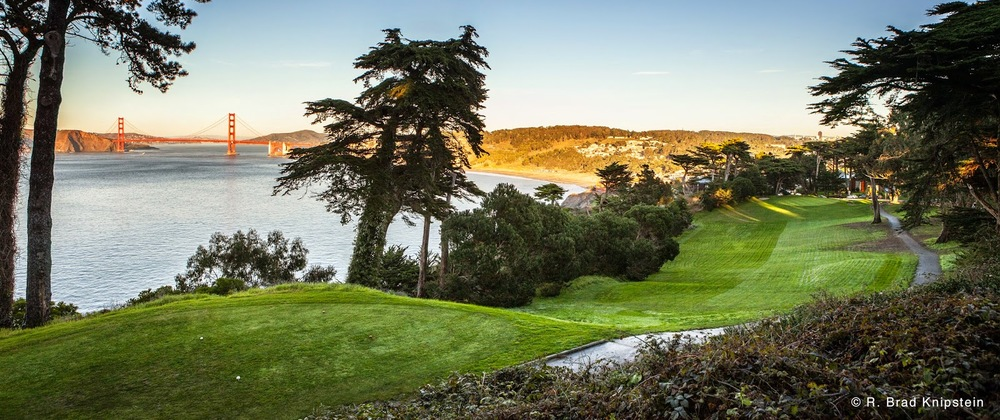 The 18-hole golf course at Lincoln Park offers sweeping views of the city and the bay.