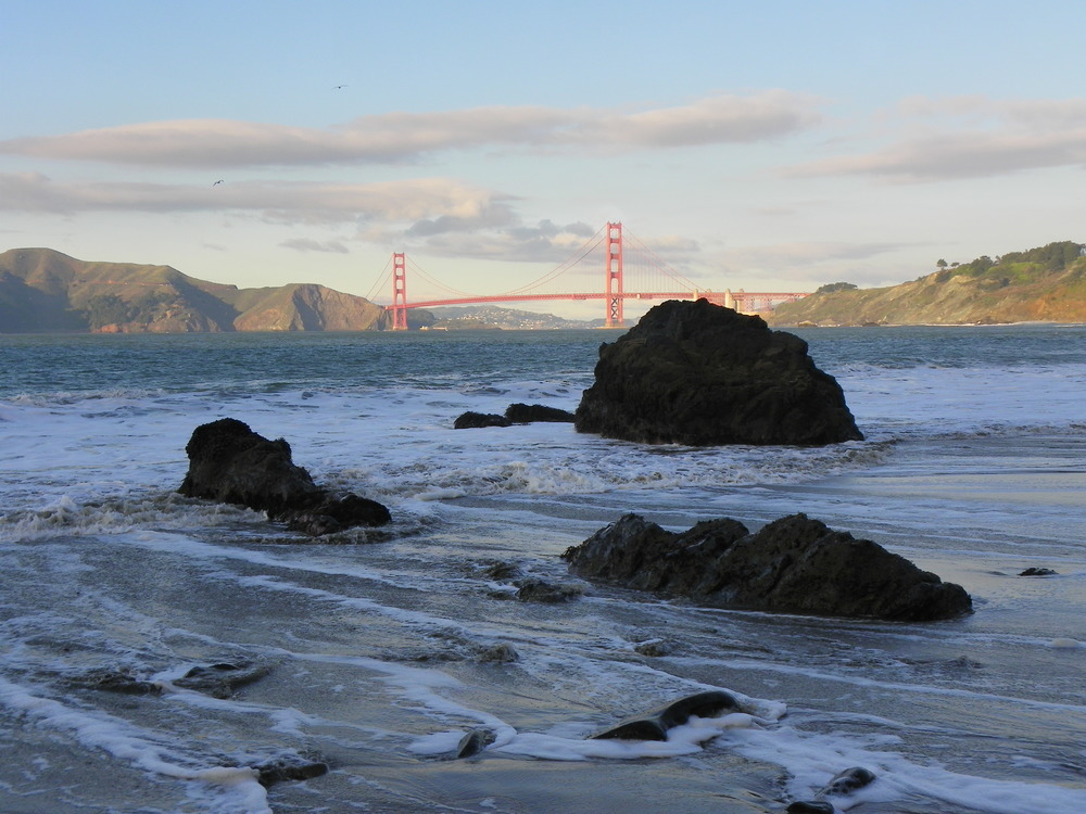 China Beach is perfect for sunbathing and yoga and offers gorgeous views of the Golden Gate Bridge.