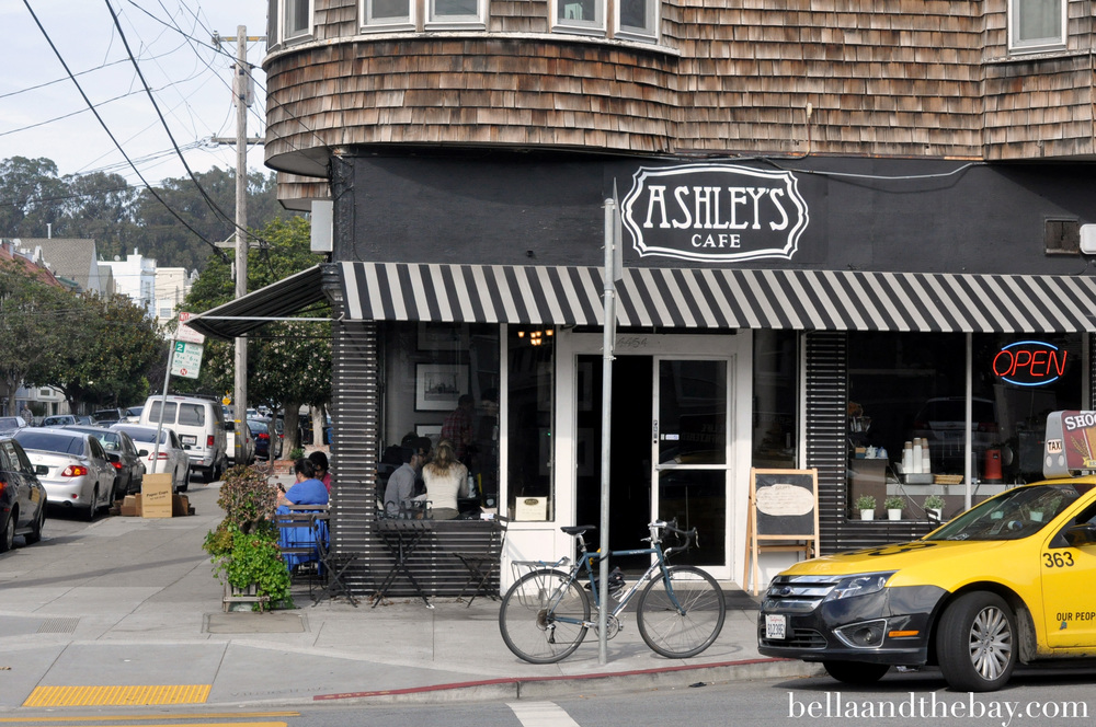 Ashley's Café on California Street is a hip breakfast and lunch spot where locals meet up or work on their laptops.