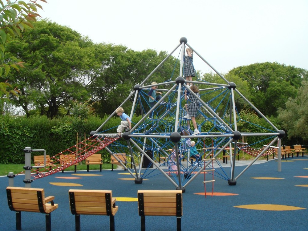 The Angelo J. Rossi Playground has a playground, swimming pool, basketball and tennis courts and a baseball field.
