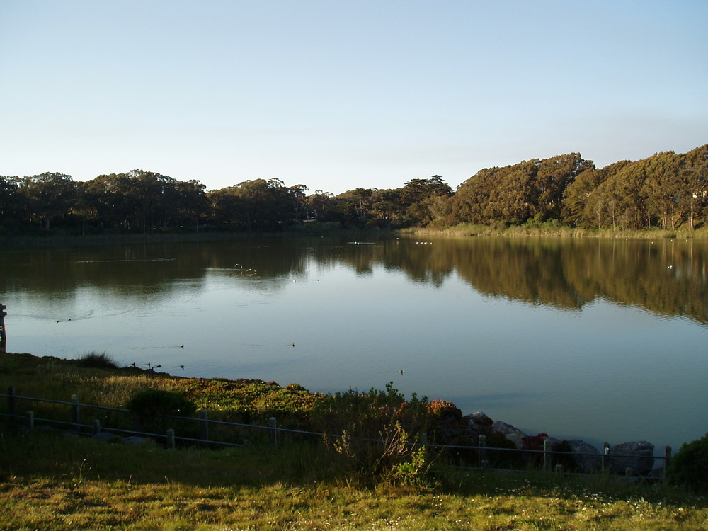 Lake Merced Park is a 614-acre outdoor area with a 4.5-mile recreational trail encircling a freshwater lake that's perfect for for fishing, boating, jogging and biking.