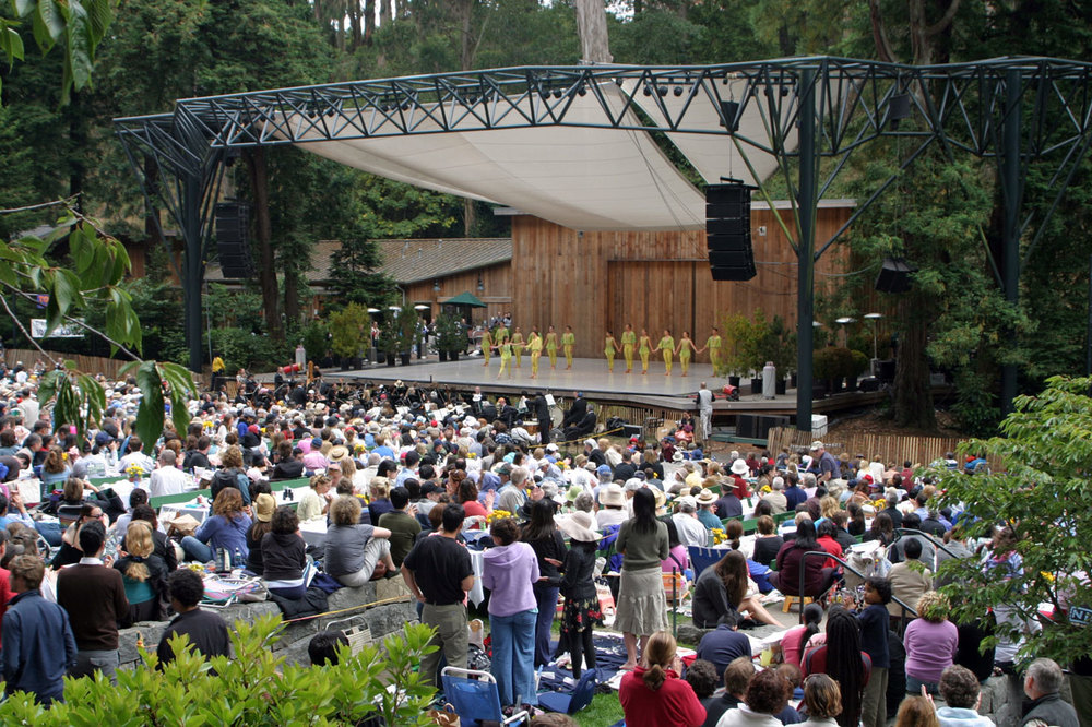 Sigmund Stern Recreation Grove, home of the free summer concert series Stern Grove Festival, boasts a sophisticated amphitheater surrounded by miles of lush greenery.