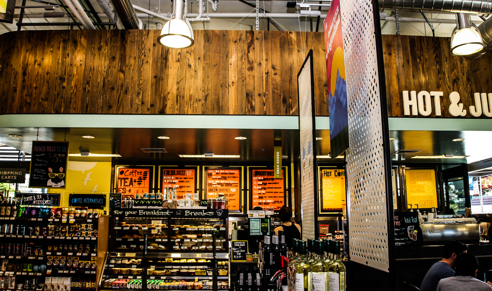 In addition to offering a wide range of natural and organic grocery items and eco-minded housewares, the Whole Foods on Ocean Avenue has superior dine-in and take-out options.