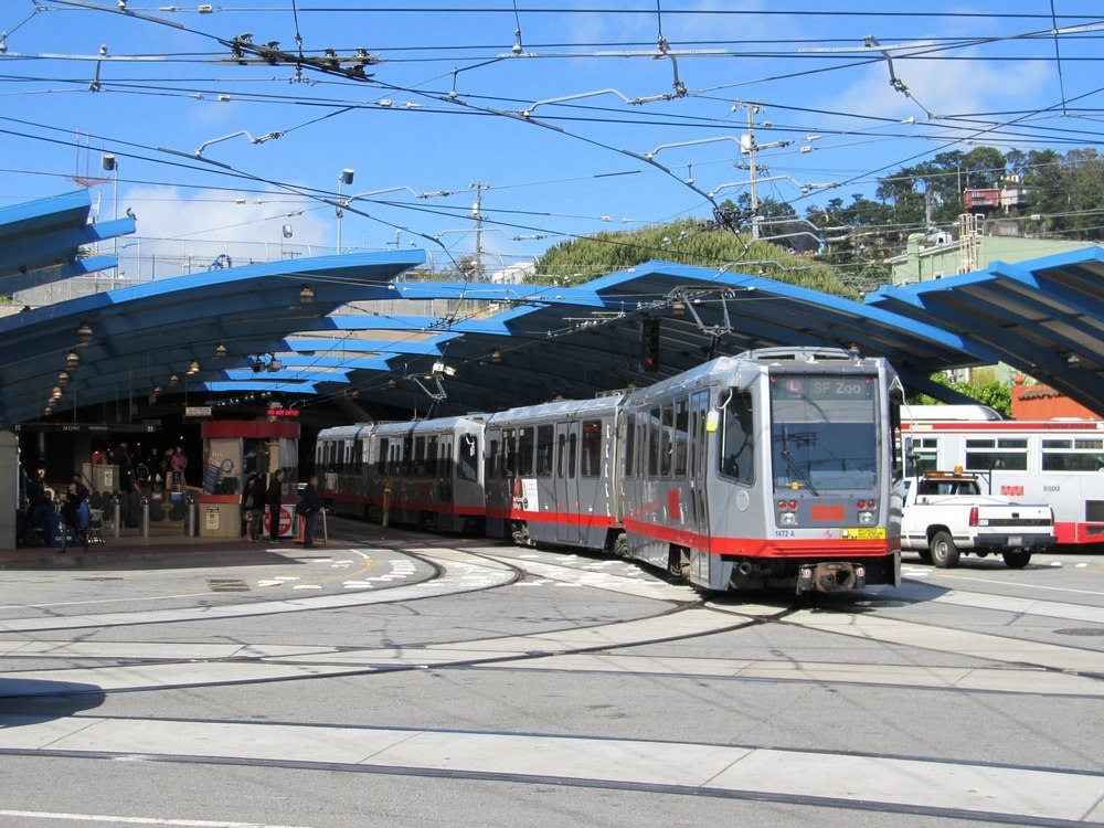 Built around the entrance to the Twin Peaks Tunnel, the West Portal MUNI Station connects with the Market Street Subway and runs through the city to the Embarcadero.