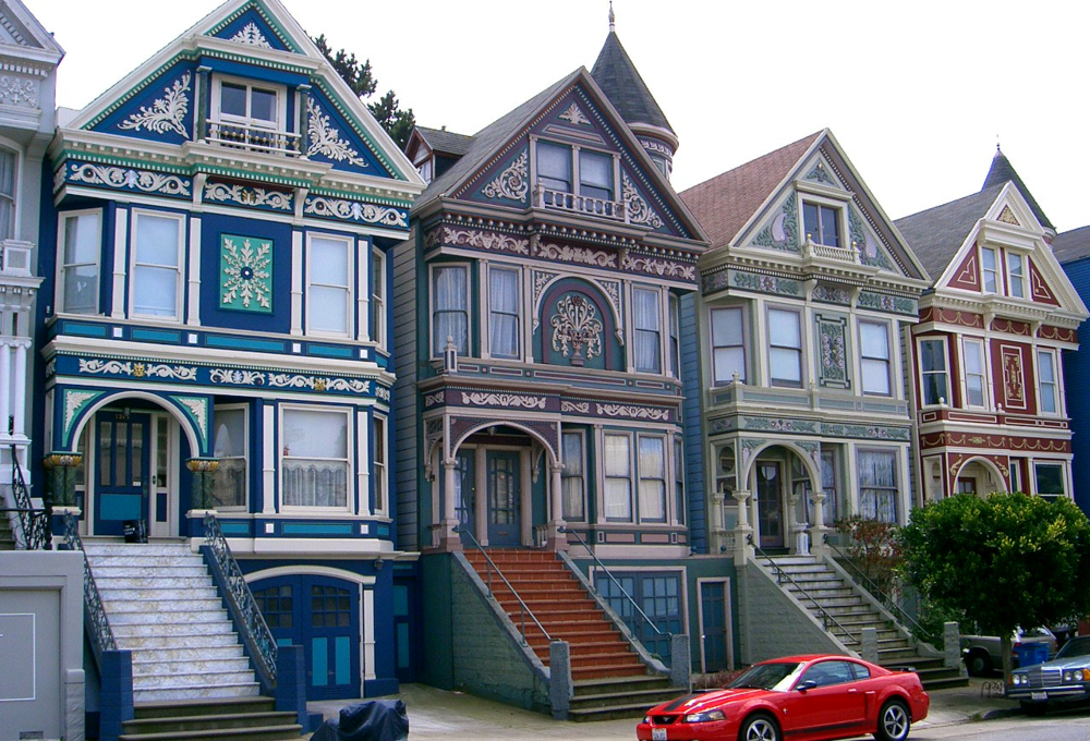 Beautifully updated Victorian homes line the streets of Cole Valley.