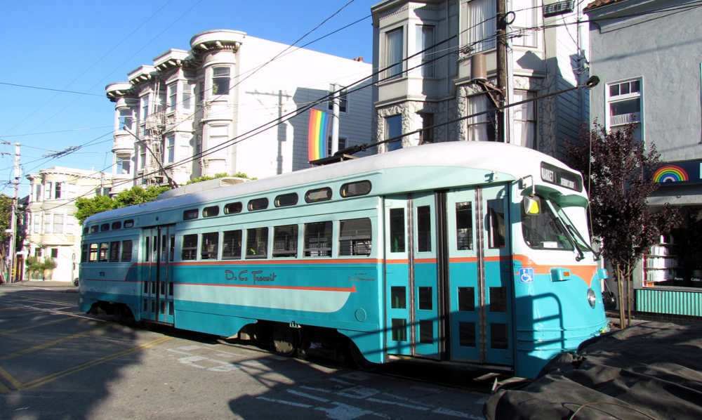 Several MUNI lines run along Market Street through the Castro.