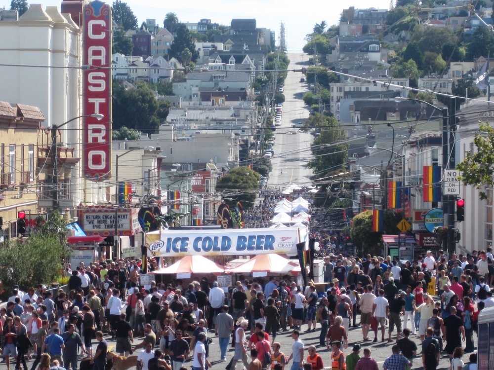Each year the neighborhood comes alive during the Castro Street Fair and Pride Week.
