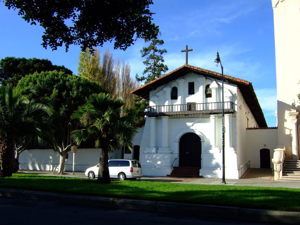 Mission Dolores, at the corner of 16th and Dolores, is one of the two original missions in San Francisco and the oldest standing building in the city.