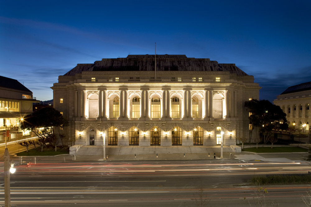 The War Memorial Opera House is the site of world-class opera productions.