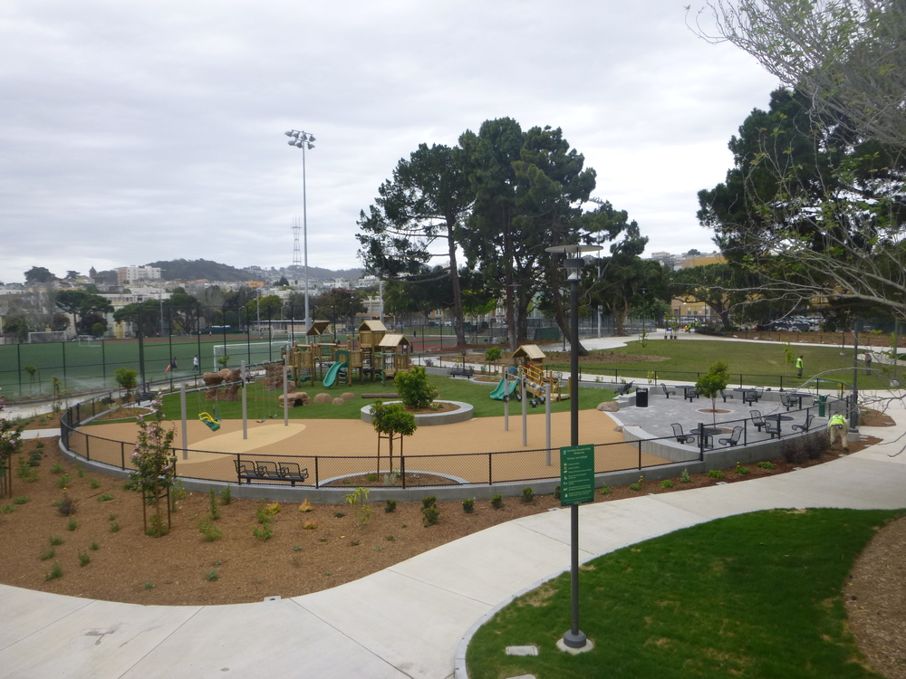The Raymond Kimbell Playground boasts several lighted sports fields and a playground.