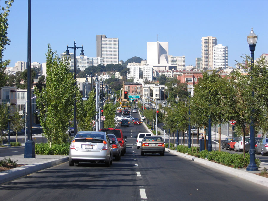 The Octavia Corridor freeway entrance makes for an easy commute south or east.