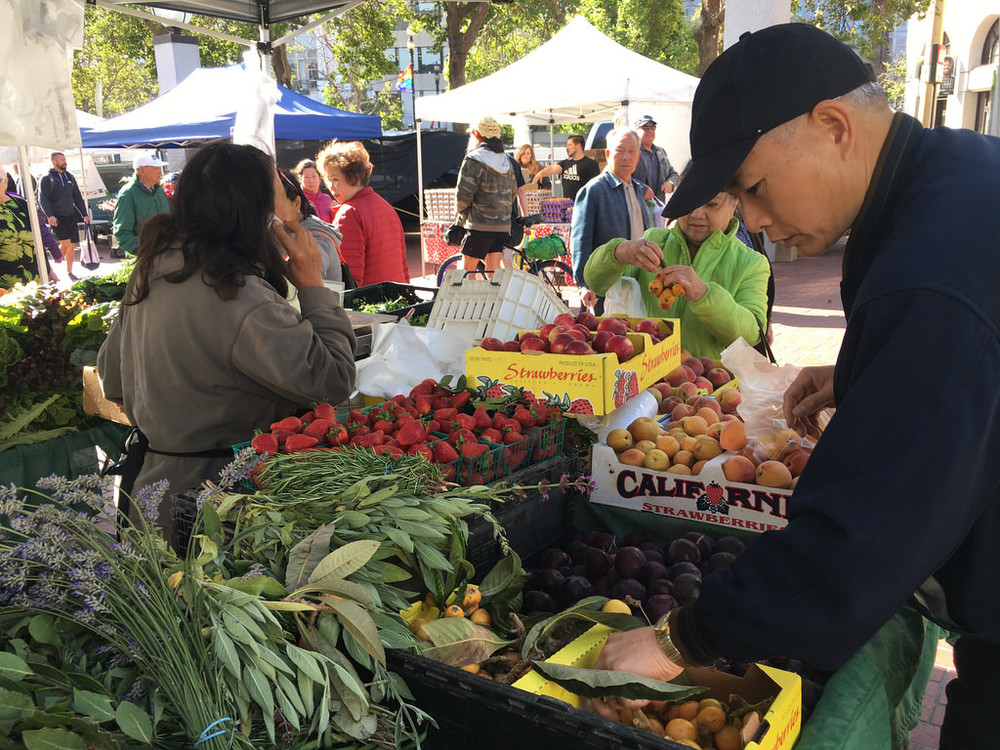 On the weekends, residents head to one of the two local farmer's markets (on Fillmore and Divisadero Streets) for fresh, organic produce.